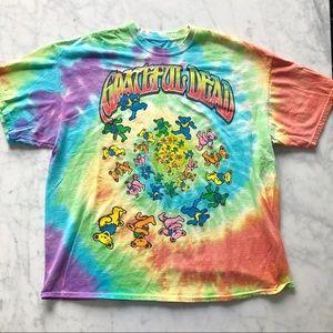 Grateful Dead Tie Dye Bear T-Shirt Size XL
